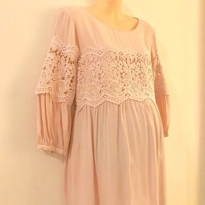 Pale Pink Maternity Blouse